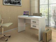 Mesa para Escritório Mafra 2 Gavetas - Politorno 1193 BCO