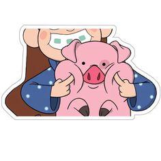 Набор стикеров для Telegram «Пухля» Pusheen Stickers, Meme Stickers, Stickers Cool, Bubble Stickers, Gravity Falls Waddles, Monster Falls, Desenhos Gravity Falls, Dipper And Mabel, Bizarre Art
