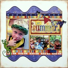 Sizzlin Hot Summer ~My Creative Scrapbook~ - Scrapbook.com  Colorful and fun!  :)