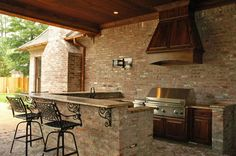 kitchen in outdoor living area