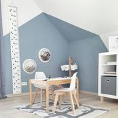 ceiling -Wall design nursery with sloping ceiling - Abbe Fenimore Affordable Kids Bedroom Design Ideas That Suitable For Kids Kids Bedroom Designs, Nursery Design, Wall Design, Ceiling Design, Cozy Bedroom, Bedroom Decor, Bedroom Kids, Kids Living Rooms, Kids Room Furniture