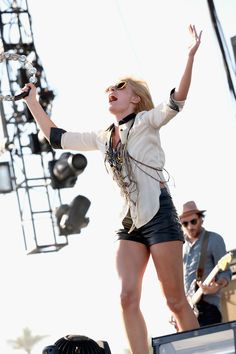 Emily Haines of Metric, on Weekend 2 Coachella Weekend 2, Coachella 2013, Emily Haines, Max Rebo, Canadian Artists, Daily Look, Mixtape, Dream Life, Sexy Legs