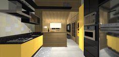 PROJETO 100 m2   SALA / COZINHA 3D 06