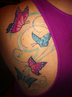 1st tattoo. Butterfly tattoo love. #butterflytattoo