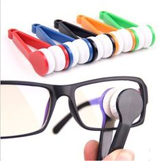 Glasses mini microfiber cleaning clip