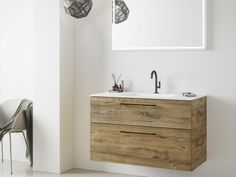The Exclusive XL is for those who are looking for a contemporary bathroom cabinet and wish to give their bathroom an individual style. Wooden Bathroom, Bathroom Furniture, Vanity, Contemporary, Cabinet, Model, Design, Wood Bathroom, Dressing Tables