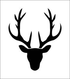 Oh Hirsch! Hirsch Silhouette, Deer Head Silhouette, Silhouette Portrait, Silhouette Cameo Shirt, Silhouette Design, Christmas Deer, Christmas Crafts, Winter Christmas, Diy Natal