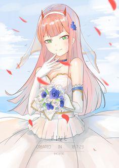 Zero two ❤ Me Anime, Anime Life, Manga Anime, Anime Art, Female Demons, Chlorophytum, Rouge The Bat, Anime Wedding, Anime Couples