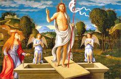 GIROLAMO DA SANTACROCE LA RESURRECCION DE CRISTO