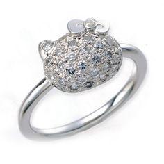 Hello Kitty & Swarovski Ring! loooove!!!