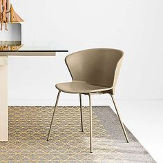 The Calligaris Bahia Chair features a polypropylene shell and ergonomic design for a distinctly modern look and feel. Modern Dining Chairs, Breakfast Nook, Modern Furniture, Shell, Flower Petals, Wraparound, Unique, Frame, Dining Room