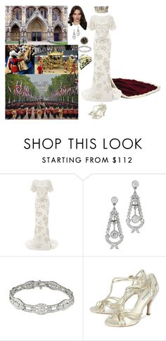 """Arriving at Westminster Abbey to attend her coronation"" by new-generation-1999 ❤ liked on Polyvore featuring Marchesa, George and modern"
