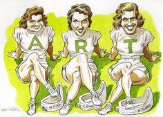 Art Cheerleaders by Geo Parkin