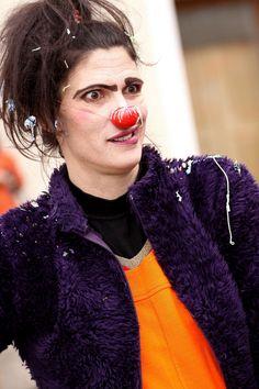 Costume de Clown Femme Halloween Cosplay Interpr/ète de Clown Uniforme Acteur dr/ôle Performance sur sc/ène V/êtements