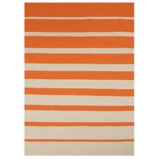 Orange Stripe Outdoor Rug
