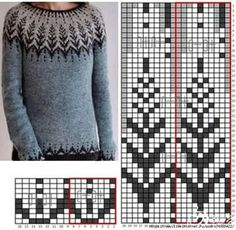 Fair Isle Knitting Patterns, Sweater Knitting Patterns, Knitting Charts, Knitting Stitches, Knitting Designs, Knit Patterns, Baby Knitting, Knitting Needles, Punto Fair Isle