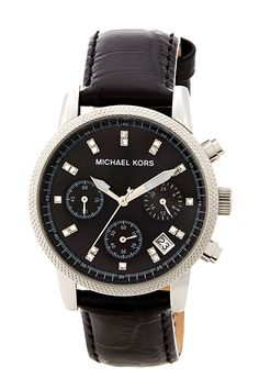 Women's Genuine Leather Band Watch by MICHAEL Michael Kors on @nordstrom_rack