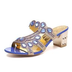 Open Toe Crystal Sandals – The Shoe Outlet Shop Jelly Shoes, Jelly Sandals, Blue Sandals, Gladiator Sandals, Womens Summer Shoes, Womens High Heels, Slip On Shoes, Wedge Shoes, Transparent Heels