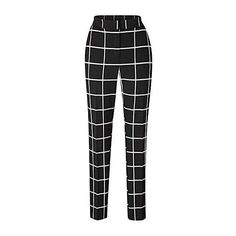 Check Slim Leg Trouser (72 CAD) ❤ liked on Polyvore featuring pants, bottoms, pantalones, trousers, checkered pants, checked pants and slim leg pants