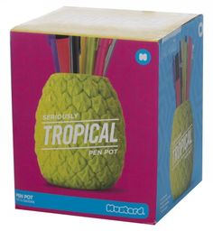 Here you can find stationery, books, eReaders, toys and games and many more products. Pineapple Pen, Berlin Today, Back To University, Pencil Cup, 1920s, Mustard, Lime, Stationery, Tropical