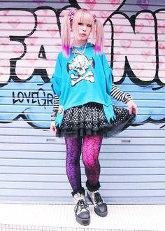 Harajuku!I would totally wear this. I really want to visit Harajuku and dress up like this.