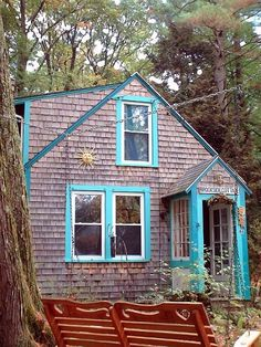 I adore this blog for all the cool house goodness - she loves history too - this tiny house is my absolute dream of a place to call all my own.  If I had a place for it I would totally build myself a studio just like this out in the woods where I could go to work - just me and my wood,  my carving tools, my dye pots, my fibres, and a good pot of tea.