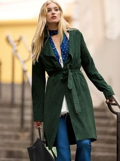 Suede Trench