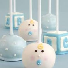 Cake pops. How cute would these be with mustaches added?!?