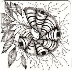 #Zentangle by #CertifiedZentangleTeacher Shelly Beauch #CZT