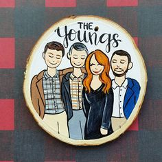 Custom Family Portrait Christmas Ornament, personalized wood slice holiday decoration, will ship Nov Wood Slices, Xmas Ornaments, Christmas Projects, Craft Fairs, Painting On Wood, Great Artists, Family Portraits, Wood Art, New Art