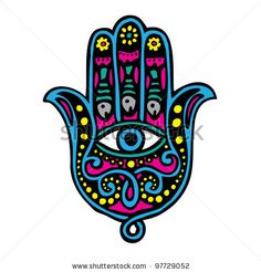 Hand of Fatima (Khamsa) - stock vector