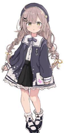 Manga Anime Girl, Anime Child, Anime Girl Drawings, Kawaii Drawings, Kawaii Anime Girl, Anime Girls, Kawaii Girl Drawing, Cute Manga Girl, Wolf Drawings