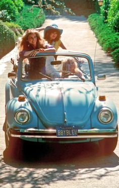 1960's California Girls in VW Bug Convertible