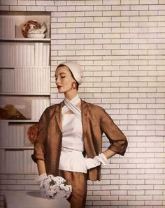 MARY JANE RUSSELL BY LOUISE DAHL-WOLFE Harper's Bazaar, March 1953
