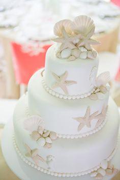 Sweet beach wedding cake. #DestinationWedding #Belize