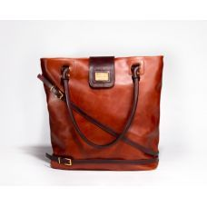 Nelly brown leather tote bag