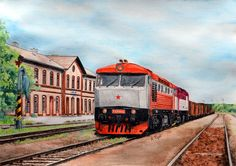 My Christmas present for A special freight train with and stopped in Střelice A reference picture was taken by me on the occasi. Christmas Presents, Train, Deviantart, Pictures, Xmas Gifts, Photos, Strollers, Christmas Gifts, Grimm