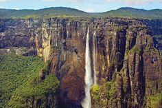 Angel Falls  - The waterfall is situated in Canaima National Park, a designated UNESCO World Heritage site