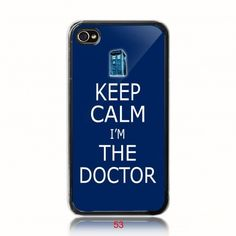 Tardis doctor who British Keep Calm And Carry On  iPhone 4/ 4s/ 5/ 5c/ 5s case