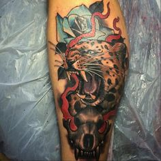 значение татуировки леопард