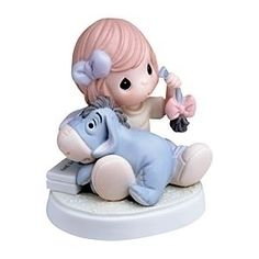 """a Friend In Need"" Disney Girl Holding Eeyore Figurine By Precious Moments $59.95 ""A Friend in Need"" Disney Girl Holding Eeyore Figurine by Precious Moments"