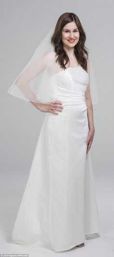 A strapless Alfred Angelo dress from Oxfam's online store, which would have cost around the £500 mark brand new