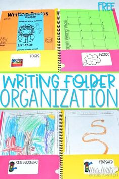 Writing Folder Organization FREE labels for your early primary writers' workshop students. Writers Workshop Folders, Student Writing Folders, Writer Workshop, Reading Workshop, Workshop Ideas, Writing Lessons, Writing Resources, Writing Ideas, Writing Process