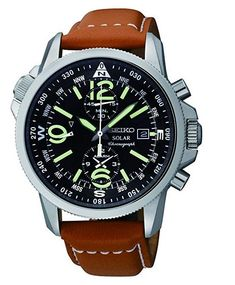 Buy your Seiko Solar NOW at MYRwatches! All Seiko watches at the best prices. Casual Watches, Cool Watches, Watches For Men, Wrist Watches, Watches Usa, Cheap Watches, Fashion Watches, Timex Watches, Seiko Watches