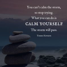 You cannot calm the storm, Do not waste your energy. Calm yourself .... the storm will pass. ............................................................................................................................................................................................... self love self care meditation mindfulness buddhism yoga love inner spirituality inner peace chakra chakras