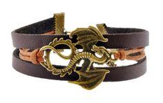 Leather Dragon Bracelet, Pterosaur Charm Pendant Bracelet Hinky Imports http://www.amazon.com/dp/B00G05E3AC/ref=cm_sw_r_pi_dp_mHlRtb0NMKY3XXZ4