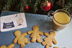 Bonhommes en pain d'épice + Latte chocolat blanc = goûter de fête ! Gingerbread Cookies, Desserts, Gingerbread Man, White Chocolate, Gingerbread Cupcakes, Tailgate Desserts, Deserts, Postres, Dessert