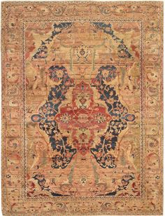 Indian Oriental Rug #44951  http://nazmiyalantiquerugs.com/antique-rugs/antique-agra-rugs/