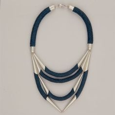 JEWELRY :: Sarah Spiridou, rope necklace 'Ortus' silver plated - Most Chic