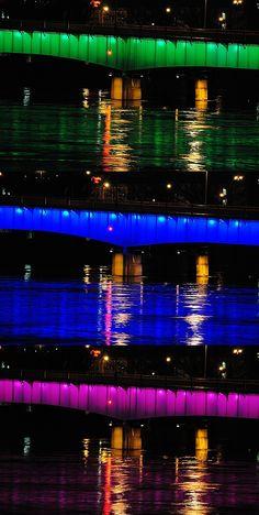 Elk River Bridge, Charleston, WV my favorite thing in the city <3<3<3